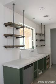 kitchen sheved industrial pipe kitchen shelving domestic imperfection