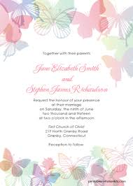 butterflies wedding invitation set invitations