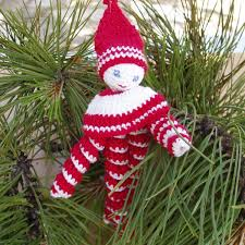crochet red white toy crochet christmas ornament crochet