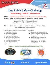 Challenge Blood Blood Assurance Hosts Safety Challenge Blood Drive