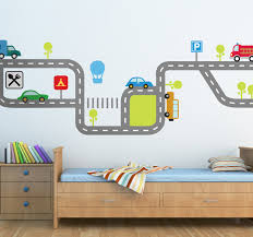 a lovely and colourful car wall sticker illustrating a flow of a lovely and colourful car wall sticker illustrating a flow of traffic with various vehicles on