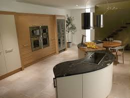 kitchen modern curved kitchen island with modern stove and also