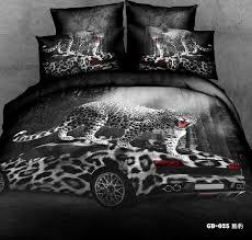 Cheap King Size Duvet Sets 3d Leopard Print Race Car Bedding Comforter Set Queen King Size