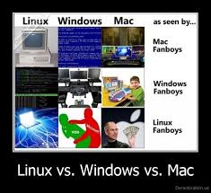 Windows Vs Mac Meme - linux vs windows vs mac demotivation us