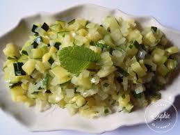 cuisine des courgettes salade de courgettes mi cuites à la menthe la tendresse en cuisine