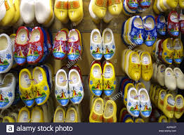 clogs in shop in holland amsterdam the netherlands stock photo