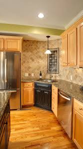 kitchen colors with medium brown cabinets 29 ivory travertine backsplash tile ideas