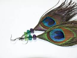 make feather earrings beaded peacock feather earrings diy tutorial jewelry and trinkets