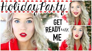 get ready with me holiday party hair makeup u0026 youtube