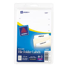 amazon com avery removable file folder labels print or write
