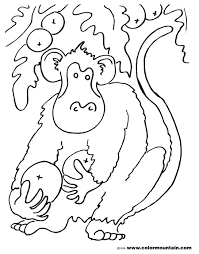coconut monkey coloring sheet create a printout or activity