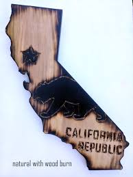 california wood california wood wall ca state flag with design wood