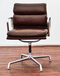 eames herman miller aluminum group leather soft pad chair