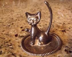 silver cat ring holder images Silver ring holder etsy jpg