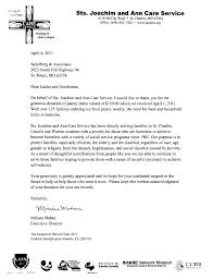 Charity Thank You Letter Sample sederburg associates