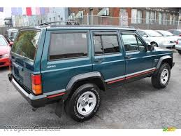 jeep cherokee green 1996 jeep cherokee sport 4wd in bright jade green photo 2