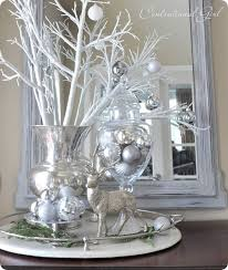 stunning glass christmas decoration ideas middle decorating and