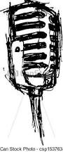eps vector of vintage microphone in doodle style csp15376349