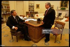 White House Oval Office Desk At The Oval Office Desk Photos And Images Getty Images