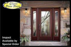 Exterior Glass Door Inserts Hurricane Glass Door Inserts With Etched Glass Ta
