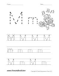 Pre K Letter Worksheets Worksheet Learning The Letter M Wosenly Free Worksheet