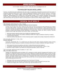 sample technology sales resume technical sales resume executive