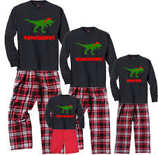personalized dino family christmas pajamas for adults