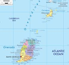 Map Of Caribbean by Detailed Clear Large Map Of Grenada Ezilon Maps