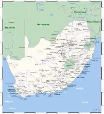 Map South Africa Map Of South Africa Overview Map Cities And Towns Worldofmaps