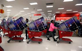black friday target hours online shoppers checked out as retail giants receive holiday gift of big