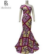 wedding dress batik africa clothing wedding dress evening dress wax fabric