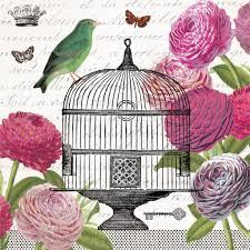 passerines vintage birdcage napkins u0026 coordinating glass plates
