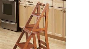 Free Wooden Folding Step Stool Plans by How To Build A Ben Franklin Ladder Chair Youtube