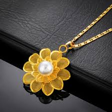 pearl pendant necklace wholesale images The new ms jewelry gold plated rose pendant ms pearl pendant jpg