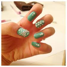 cute nails with rhinestones how you can do it at home pictures