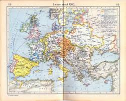 Religious Map Of Europe by Of Europe About 1560