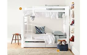Room And Board Bedroom Furniture Dayton Bunk Bed In White Modern Kids Furniture Room U0026 Board