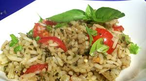 rice cuisine pesto rice recipe genius kitchen