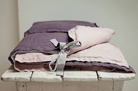 Linen Bedding Bedding Set With Pouch