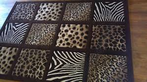 Brown Animal Print Rug Large Area Rug With Leopard Zebra Cheetah Print 5ft 2in X 7ft 2 In