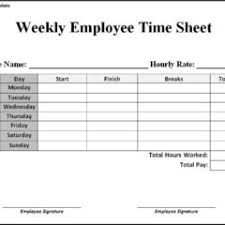 employee weekly timesheet template sample with breaks vlashed