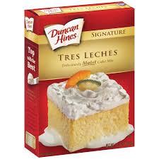 duncan hines signature cake mix tres leches 14 18 oz walmart com