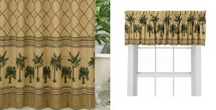 Curtains With Matching Valances Kona Shower Curtain And Valance By Karin Maki Crystal Creek