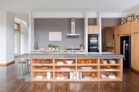 open shelves as a part of a kitchen interior open shelves in the kitchen island