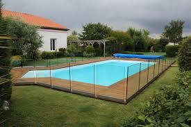 piscine en verre garde corps design acier fer alu et inox artisan salles adour 65
