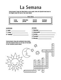 9 best images of spanish days of the week worksheet spanish days
