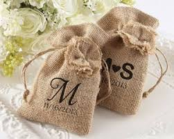 rustic burlap favor bags available personalized set of 12