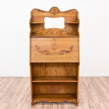 antique oak secretary desk bookcase loveseat vintage furniture