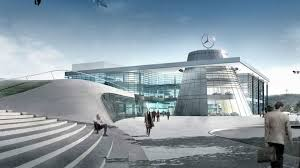mercedes headquarters mercedes benz centers set new standards in showroom architecture