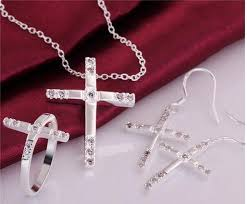 cross jewelry rings images 2015 new design 925 silver cross pendant necklace earrings jpg